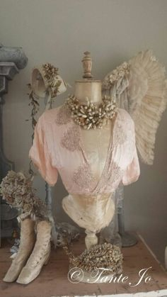 antique French bridal tiaras and shoes