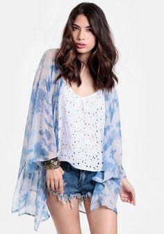 Georgie Sheer Kimono By Gypsy Junkies #threadsence #fashion #gypsyjunkies