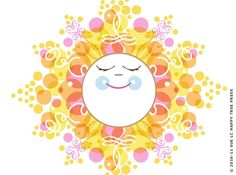 Items similar to Happy Sun Art, Smiling Sun Illustration, Yellow Sun Art on Etsy Sun Moon Stars, Sun And Stars, Solar Lunar, Tangled Sun, Sun Illustration, Illustrations, Sun Painting, Brand New Day, Sun Art