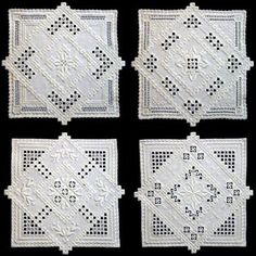 See the pretty Hardanger Double Doilies at Nordic Needle