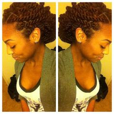 Love this! So trying this style in a couple of weeks. Freaking Fabulous Marley twists.