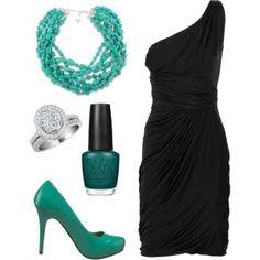 vestido negro accesorios - Buscar con Google