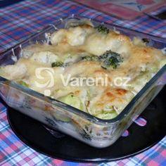 Fotografie receptu: Zapečená brokolice a květák s bešamelem Macaroni And Cheese, Meat, Chicken, Ethnic Recipes, Food, Mac And Cheese, Essen, Meals, Yemek