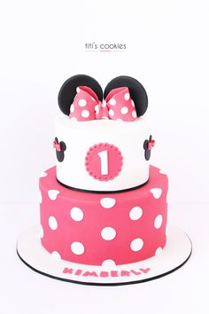 Minnie mouse cake by KEEK Minnie mouse taart Desserts