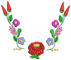 Kalocsai hímzésminta 311 Hungarian Embroidery, Folk Embroidery, Embroidery Patterns, Bordado Popular, Floral Drawing, Stencils, Quilts, Drawings, Vintage