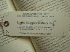 Save the Date Bookmarks | Beauty and the Beast Themed Wedding | Estate Weddings and Events