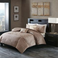 Madison Park Julien Taupe Duvet Cover Set
