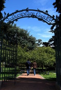 Need a last-minute Valentine's Day idea? How about a stroll through Shakespeare Garden in San Francisco?