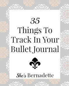 35 Things To Track In Your Bullet Journal - Just started my BuJo today so this was helpful Bullet Journal Book, Bullet Journal Banners, Bullet Journal Hacks, My Journal, Journal Prompts, Journal Pages, Bullet Journals, Journal Ideas, Organization Ideas