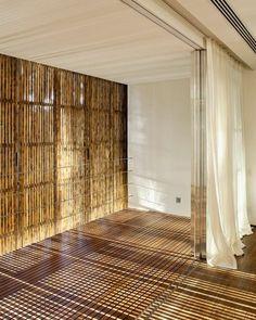 bambusrollo schiebetüren vertikal
