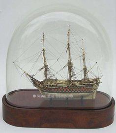 French prisoner of war model Boat In A Bottle, Ship In Bottle, Prisoners Of War, Nautical Art, Model Ships, Antique Glass, Glass Domes, Vignettes, Sailing Ships