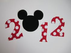 Mini 2012 Iron On Mickey Mouse Applique by Bayjorder on Etsy, $4.75