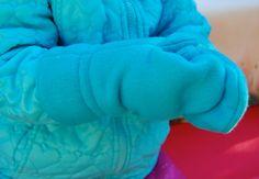ikat bag: Free Pattern & tutorial for fleece mittens