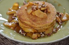 pumpkin pancakes with sauteed apples | Pamela Salzman & Recipes - whole wheat, buttermilk
