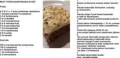 porkkanapiirakka Baking, Desserts, Food, Bread Making, Tailgate Desserts, Deserts, Patisserie, Essen, Dessert