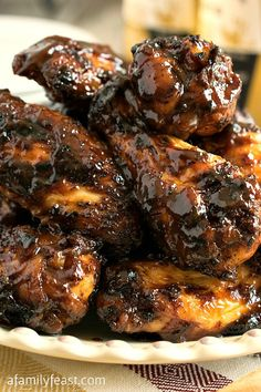 Dry Rub Spicy Barbecue Chicken Wings - Spicy, finger-licking good, barbecue chicken wings! So easy and so delicious!