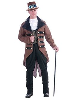 Adult Steampunk Jack Costume  Fits up to 42 inch chest