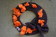 simple hallowe'en wreath - happy hooligans