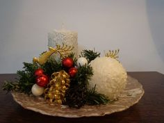 Christmas Time, Candles, Table Decorations, Handmade, Furniture, Home Decor, Hand Made, Decoration Home, Room Decor
