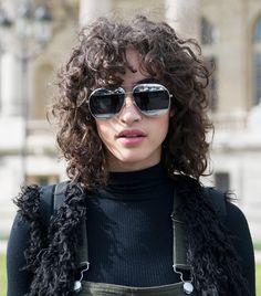 Mica Arganaraz proves that the shag haircut looks great on curly hair
