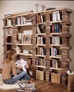 39 casual bookshelf design ideas to decorate your room .- 39 casual bookshelf design ideas to decorate your room # bookcase - Diy Bookshelf Design, Bookshelf Ideas, Bookshelf Decorating, Cheap Bookshelves, Decorating Ideas, Bookcases, Homemade Bookshelves, Diy Bookshelf Wall, Rustic Bookshelf