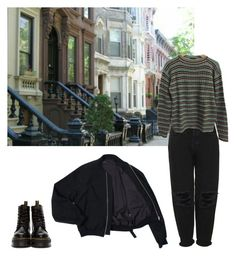"""""""brooklyn baby"""" by inteovertgirl ❤ liked on Polyvore featuring Boutique, Prada and Dr. Martens"""