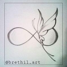 New tattoo designs drawings inspiration tatoo ideas Infinity Tattoos, Wrist Tattoos, Body Art Tattoos, Tatoos, Infinity Butterfly Tattoo, Infinity Tattoo Designs, Tattoo Neck, Butterfly Tattoos, Henna Butterfly