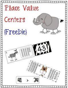 Place Value Centers {Freebie}