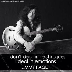 Jimmy Page and his quote about how he plays....