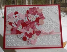 you need to be a Stampin' Up demonstrator to go to this website... but such a cute card using a small heart punch