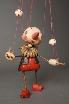 Zongler marionette by Japanese puppet maker Sota Sakuma. via Puppet House