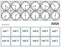 De klok: uur en halfuur