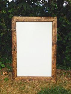 Rustic Dry Erase Board Rustic Whiteboard Dry by TheFarmhouseFinds Dry Erase Whiteboard, Dry Erase Board, Wood Tile Floors, Rustic Office, Diy Frame, White Wood, Barn Wood, Home Depot, Wood Doors