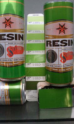 """I haven't tried the beer, but I love the can design.  """"The Carefully Considered Evolution of Sixpoint's Narrow 12oz RESIN Double IPA Can Design."""""""