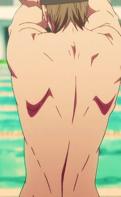 Thought I'd share this amazing Gif of Makoto and his extremely muscular back ;) (Free! Iwatobi Swim Club)