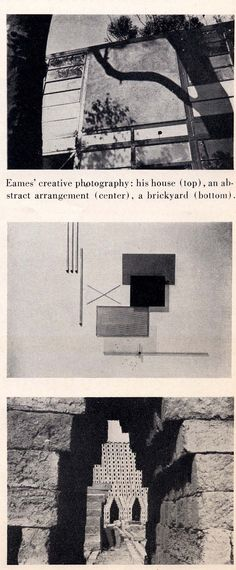 Photographs by Charles #Eames