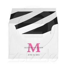 Shop Zebra Print Monogram Wedding Invitation Envelopes created by monogramgallery. Zebra Wedding, Monogram Wedding Invitations, Custom Printed Envelopes, Thank You Notes, Tiffany Blue, Zebra Print, Wedding Stuff, Stationery, Greeting Cards