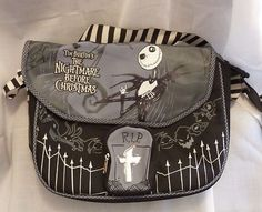 Jack Skellington Messenger Bag Nightmare Before Christmas Lunch Bag