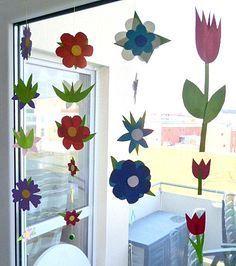 Blumengirlande fürs Fenster - Pflanzen Basteln - Meine Enkel und ich - Made with schwedesign.de