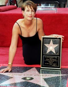 Sept of 1998 Jamie Lee Curtis received a star on the Hollywood Walk of Fame - how about you? I like her better with her salt and pepper hair today!