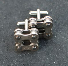Bike Chain Cufflinks with Gift Packaging Square by jpoffthecuff $30