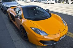 While dark blue was tasteful, McLaren's traditional orange is a great color for this MP4-12C.