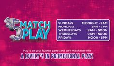 $5 Match Play all February long!