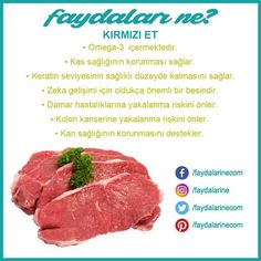 meat # Kırmızıetinfayda of Healthy Sport, Healthy Life, Reflexology Massage, Diet And Nutrition, Herbalism, Health Care, Vitamins, Remedies, Health Fitness