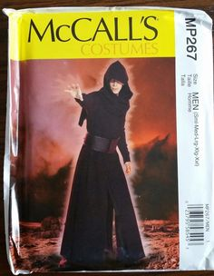 McCalls Pattern MP267 / M7422 sizes 34-52 Men's Coat, Surcoat, Hood and Belt
