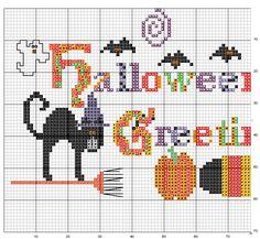 Schema punto croce Pannello Halloween 1