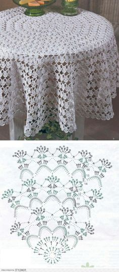 DIY - zrób to sam - serweta / obrus na szydełku Nape Crochet, Col Crochet, Crochet Stitches Patterns, Crochet Home, Thread Crochet, Filet Crochet, Crochet Designs, Crochet Round, Crochet Tablecloth Pattern