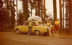 Fiat 124. Punkaharju, Finland.