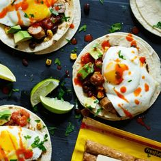 Quick and Easy Huevos Rancheros Sausage Breakfast Tacos
