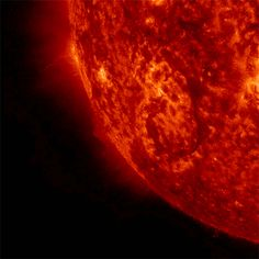 A solar eruption on Sept. seen by NASA's Solar Dynamics Observatory. If erupted solar material reaches Earth, it can deplete the electrons in the upper atmosphere in some locations while adding electrons in others, disrupting communications either way. Cosmos, Electric Universe, Galaxy Photos, Astronomy Pictures, Space Photography, Earth From Space, Space And Astronomy, Space Time, Supernatural